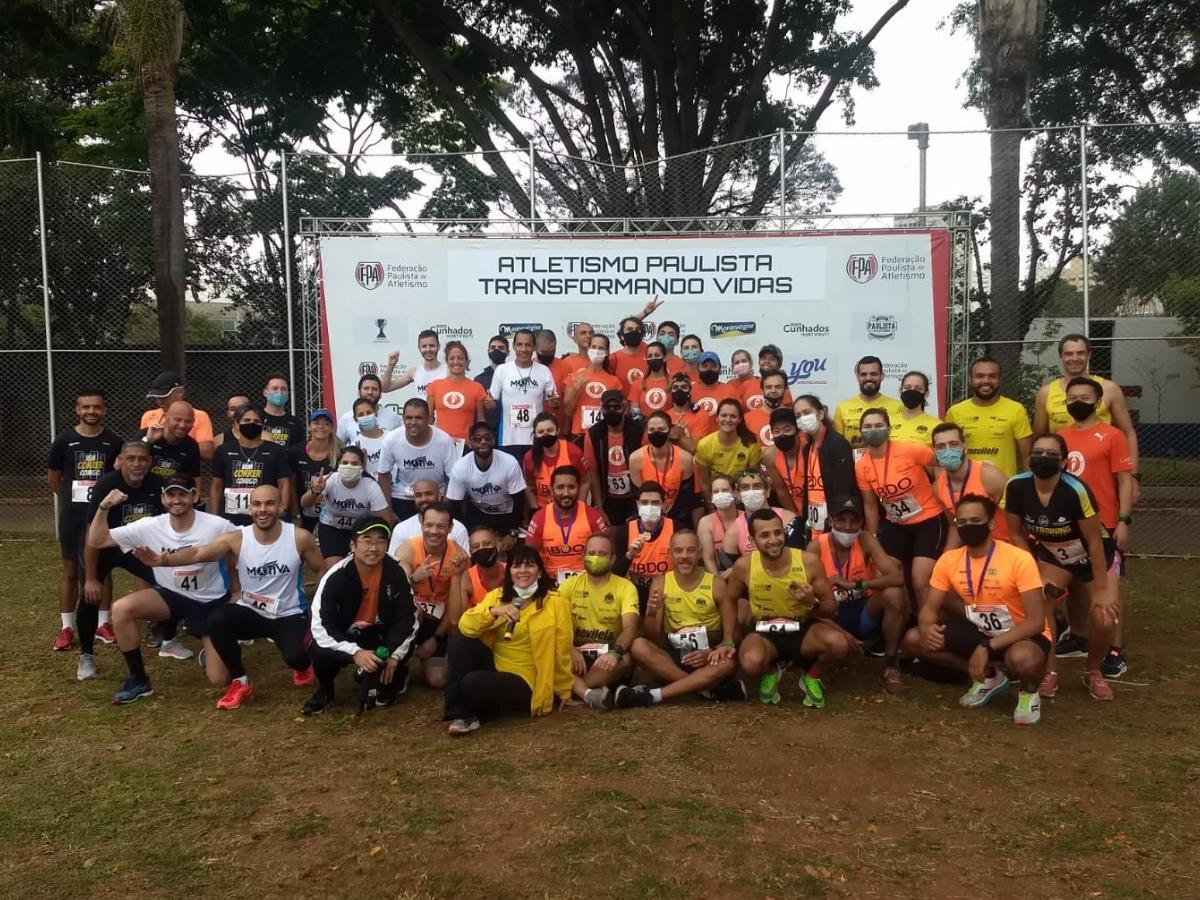 Ação com corredores de rua (Crédito Federação Paulista de Atletismo)